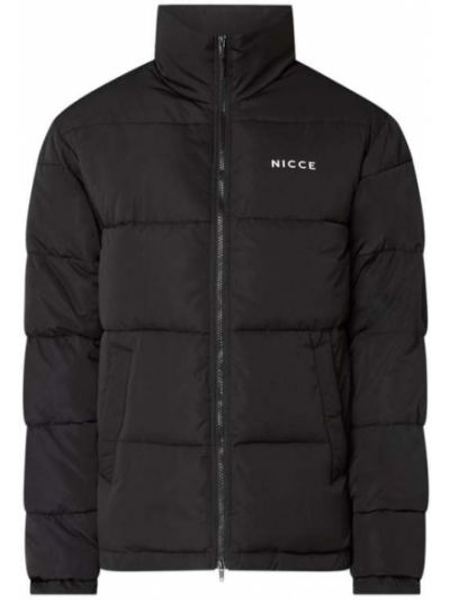 Czarna kurtka pikowana z printem Nicce