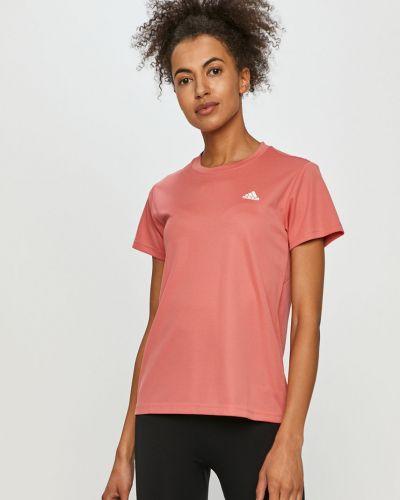 Różowy top sportowy dzianinowy na co dzień Adidas