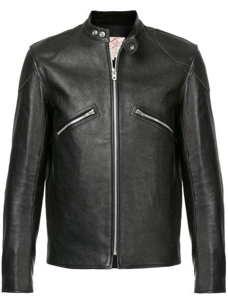 Кожаная черная кожаная куртка винтажная на молнии Addict Clothes Japan