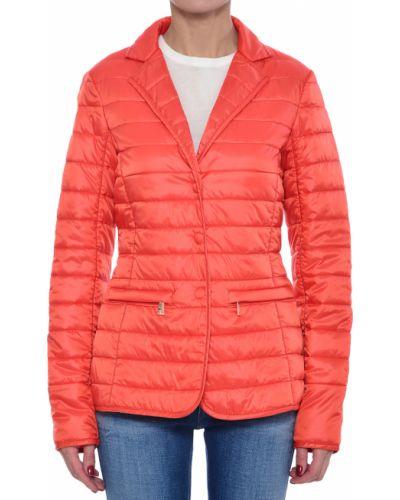 Коралловая нейлоновая куртка Trussardi Jeans