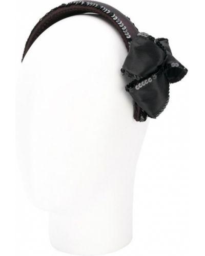 Ободок с бантом черный Chanel Vintage