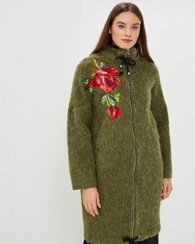 Пальто демисезонное зеленое Yukostyle