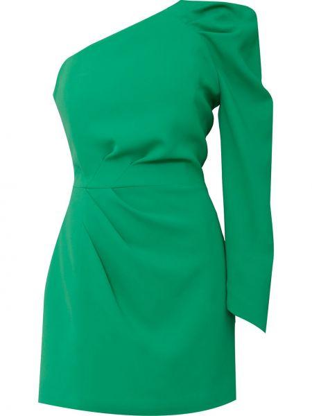 С рукавами зеленое платье на одно плечо Ginger & Smart