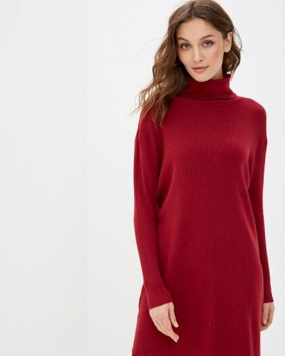 Вязаное трикотажное красное платье Tantra