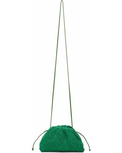 Kopertówka skórzana - zielona Bottega Veneta
