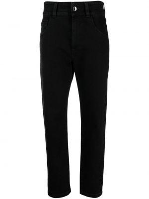 Зауженные джинсы с завышенной талией - черные Opening Ceremony