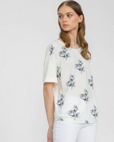 Белая блузка с коротким рукавом с короткими рукавами Lo