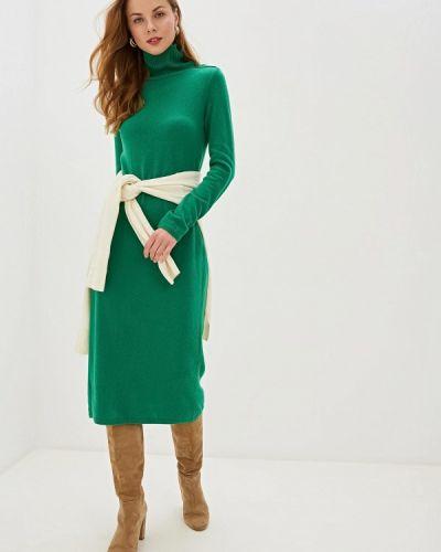 Платье осеннее зеленый United Colors Of Benetton