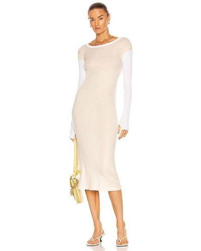 Платье макси с длинными рукавами - белое Enza Costa