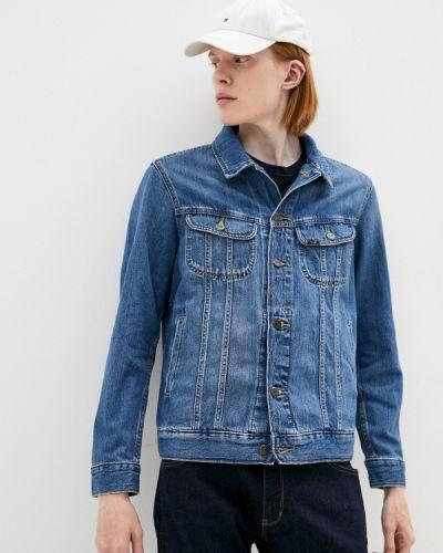 Синяя куртка осенняя Lee