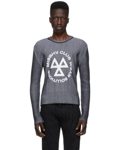 Biały bawełna akryl z rękawami długi sweter Misbhv