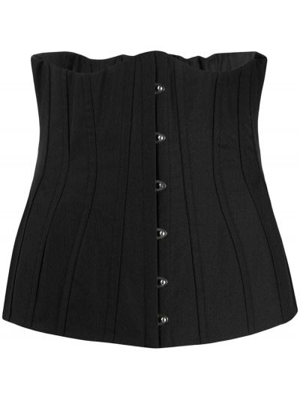 Хлопковый черный корсет на молнии Dolce & Gabbana