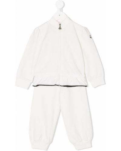 Спортивный костюм прямой белый Moncler Kids