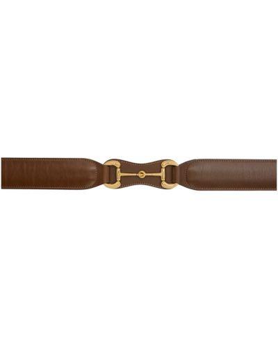 Pasek z paskiem z klamrą złoto z prawdziwej skóry Gucci