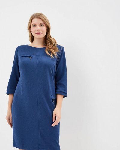 Синее повседневное платье Indiano Natural