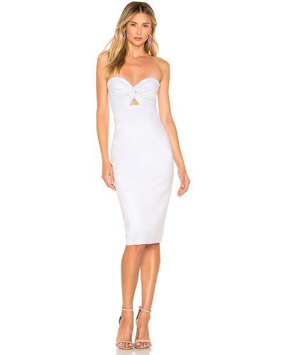 Biała sukienka midi bawełniana About Us