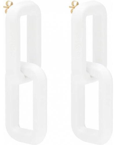 Акриловые белые серьги-гвоздики Off-white
