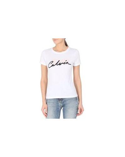 Футболка белая футбольный Calvin Klein Jeans