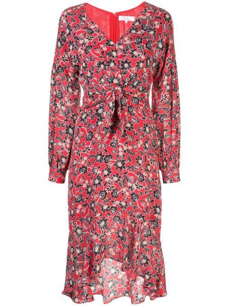 Хлопковое платье миди - красное Parker