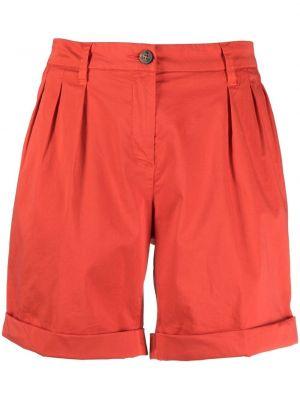 Хлопковые красные с завышенной талией шорты Fay