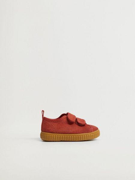 Текстильные ботинки - оранжевые Mango Kids