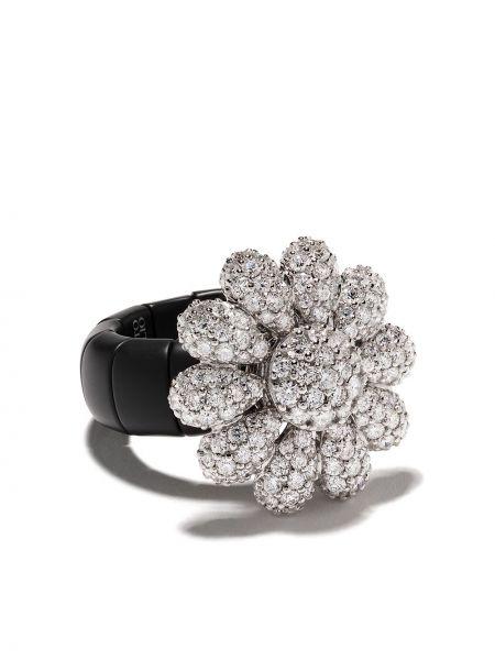 Biały złoty pierścionek z diamentem Roberto Demeglio