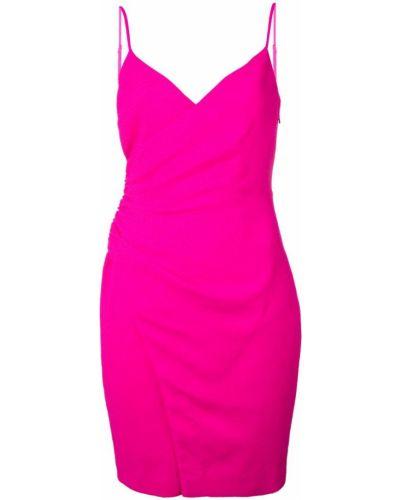 Облегающее розовое платье мини с запахом Black Halo