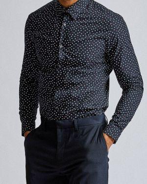 Рубашка с длинным рукавом синий Burton Menswear London