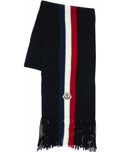 Черный шерстяной шарф Moncler