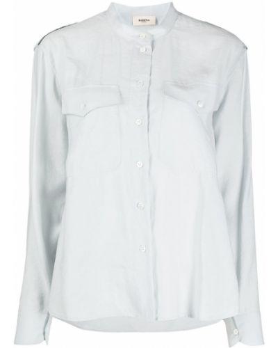 С рукавами синяя рубашка с воротником на пуговицах Barena