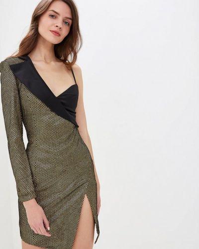 Вечернее платье осеннее золотой Mirasezar