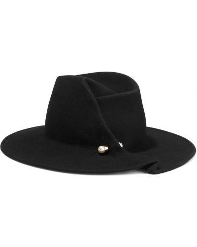 Фетровые шляпа - черные Eugenia Kim