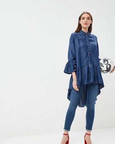 Туника итальянская синий Sophia