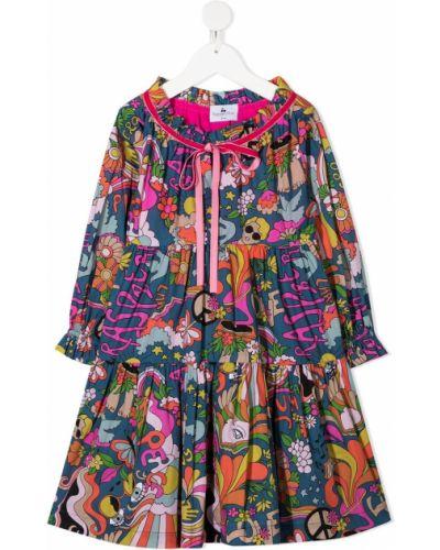 Фиолетовое платье с рукавами круглое с круглым вырезом с длинными рукавами Raspberry Plum