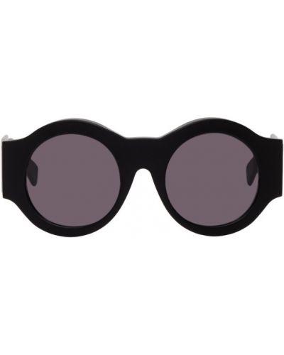 Черные солнцезащитные очки круглые матовые Kuboraum