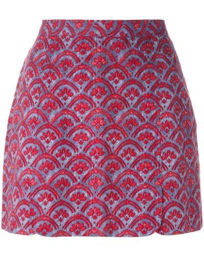 Плиссированная льняная юбка мини винтажная Vivienne Westwood Pre-owned