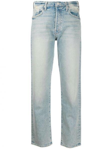Прямые джинсы с эффектом потертости на пуговицах Mother