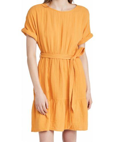 Платье с поясом с короткими рукавами с декольте Xírena