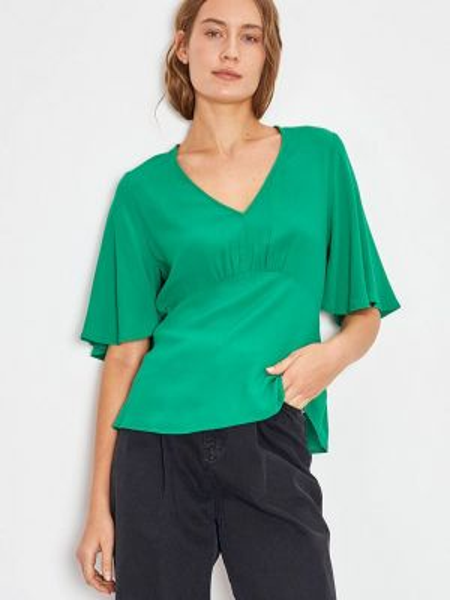 Блузка с коротким рукавом зеленый весенний Lime