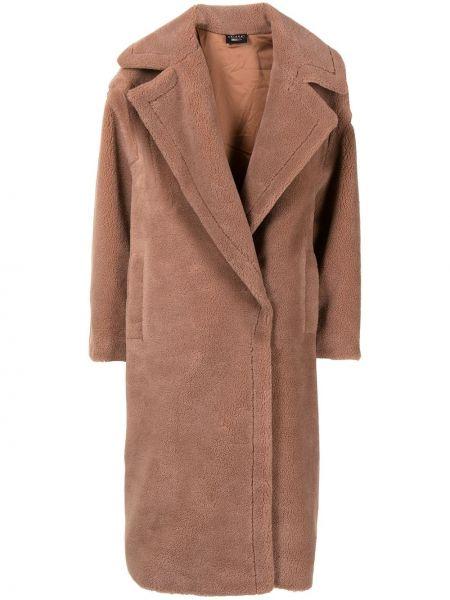 Beżowy płaszcz z printem Joshua Sanders