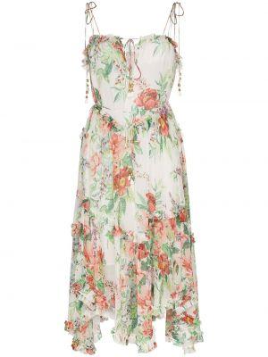 Sukienka midi z wiskozy w kwiaty Zimmermann