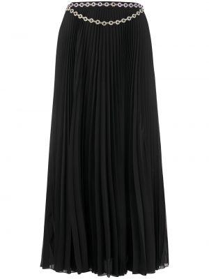 Плиссированная черная с завышенной талией юбка макси со складками Christopher Kane