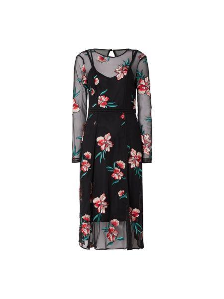 Czarna sukienka z długimi rękawami Coast