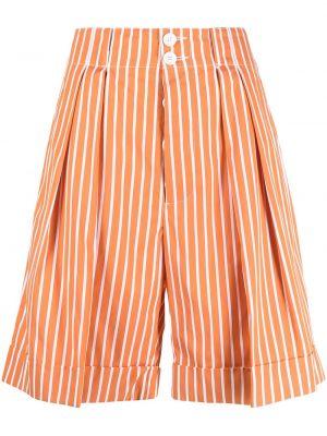 Хлопковые шорты в полоску с карманами Plan C