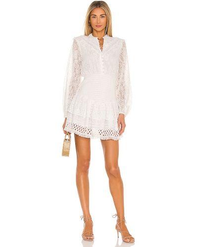 Повседневное кружевное белое платье мини Hemant And Nandita