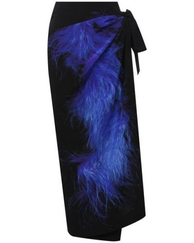 Черная шелковая юбка Dries Van Noten