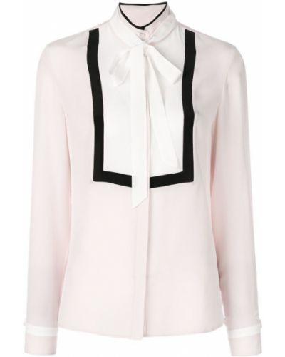 Рубашка с воротником-стойкой с бантом Karl Lagerfeld