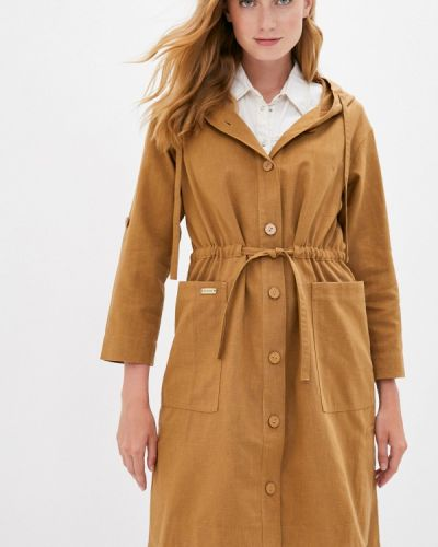 Коричневое пальто D`imma
