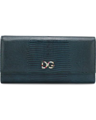 Зеленый кожаный кошелек Dolce & Gabbana