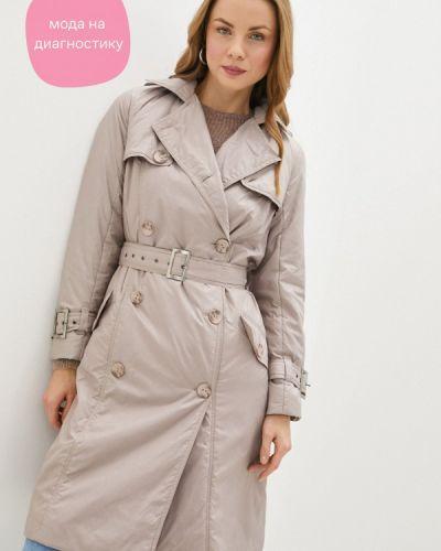 Бежевая утепленная куртка Duckystyle